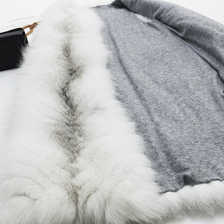 Cross Fox Fur Vest 804 Details 4