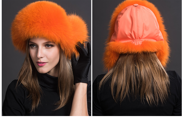 Fox Fur Trapper Hat 859 1 Details 10
