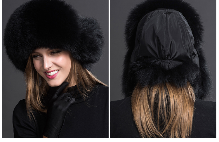 Fox Fur Trapper Hat 859 1 Details 2