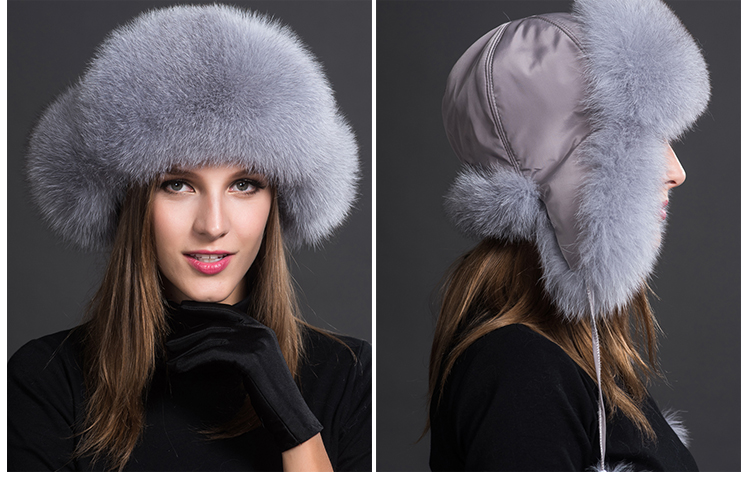 Fox Fur Trapper Hat 859 1 Details 3