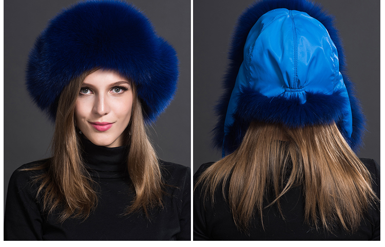 Fox Fur Trapper Hat 859 1 Details 4