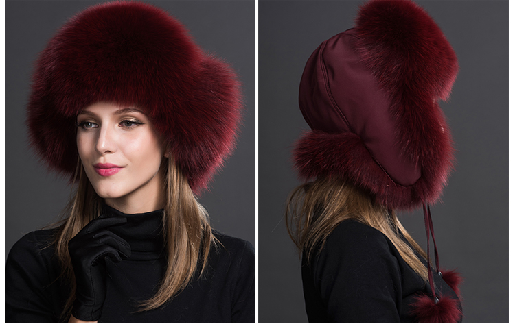 Fox Fur Trapper Hat 859 1 Details 5