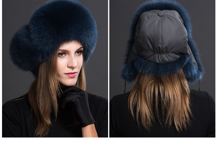 Fox Fur Trapper Hat 859 1 Details 6
