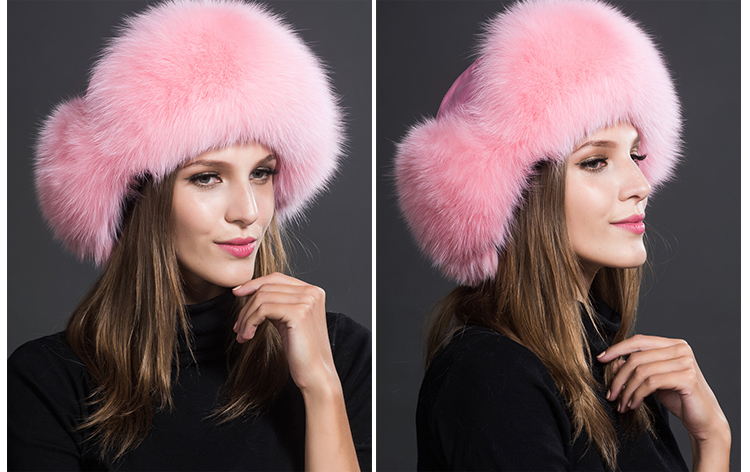 Fox Fur Trapper Hat 859 1 Details 7