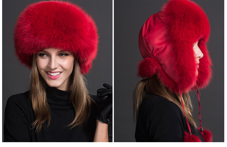 Fox Fur Trapper Hat 859 1 Details 8