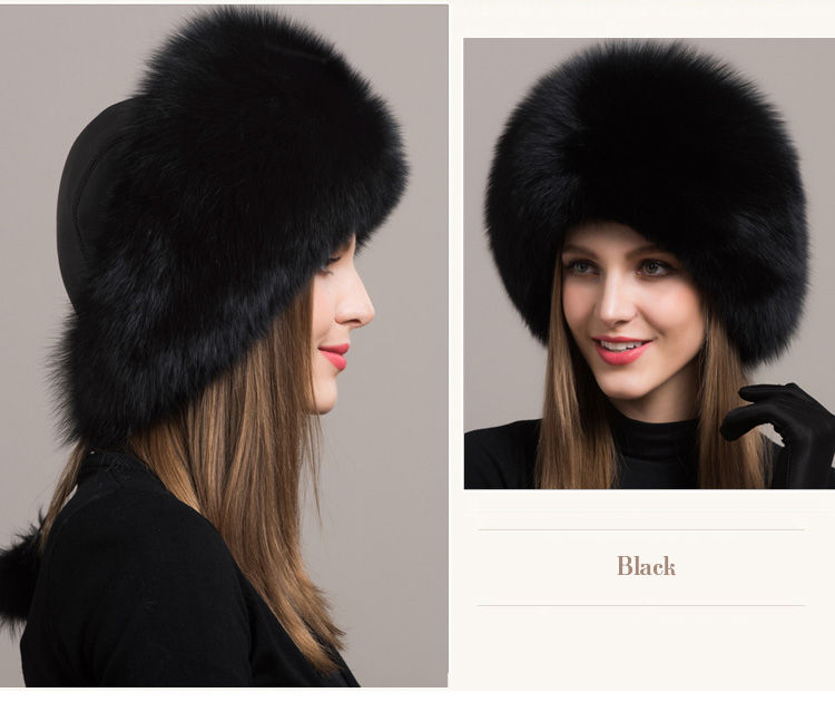 Fox Fur Hat 861 Details 2