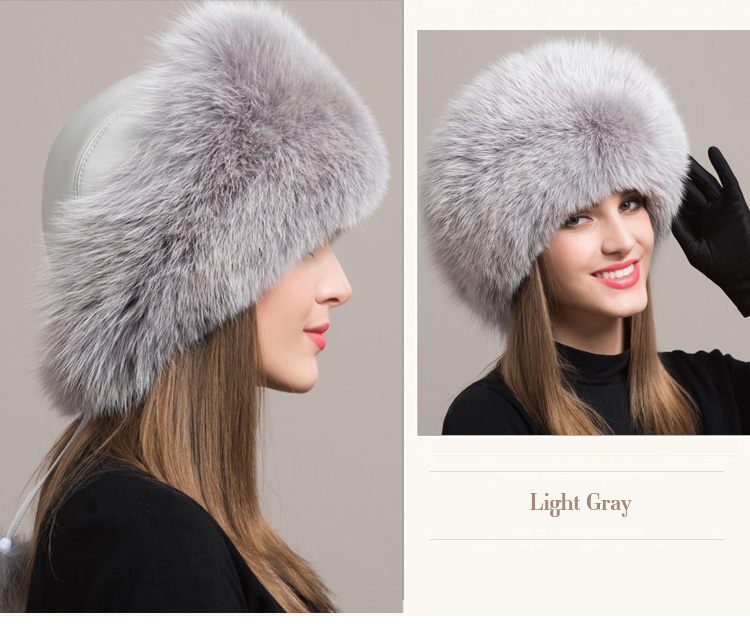 Fox Fur Hat 861 Details 3