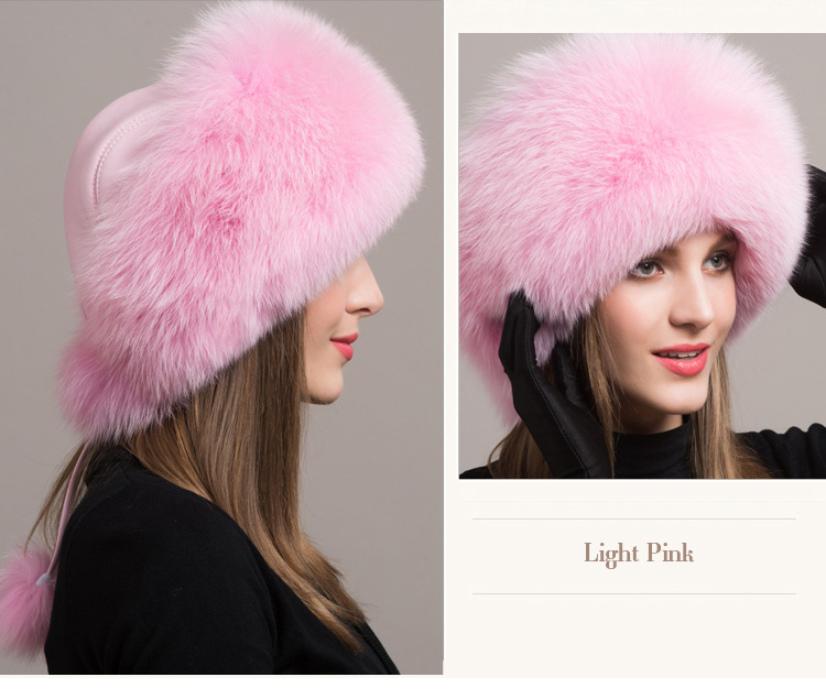 Fox Fur Hat 861 Details 4