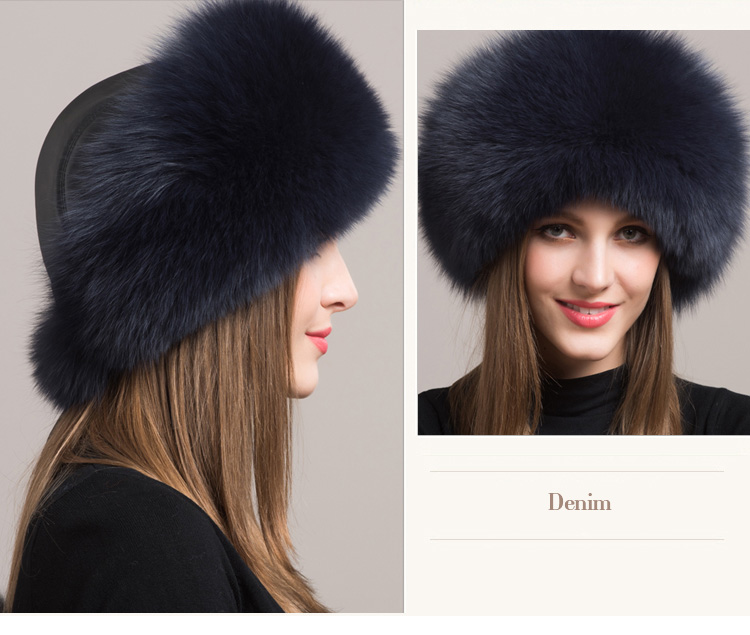 Fox Fur Hat 861 Details 5