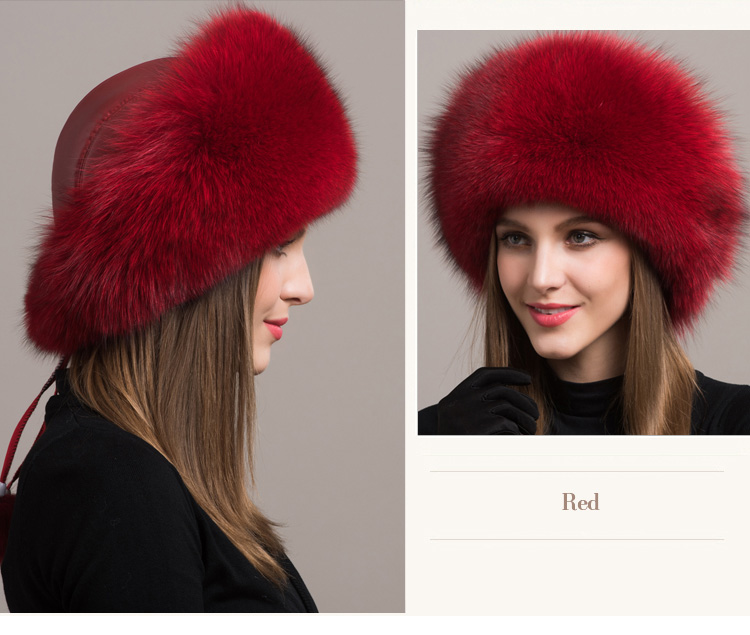 Fox Fur Hat 861 Details 6
