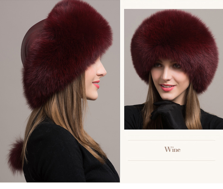 Fox Fur Hat 861 Details 7