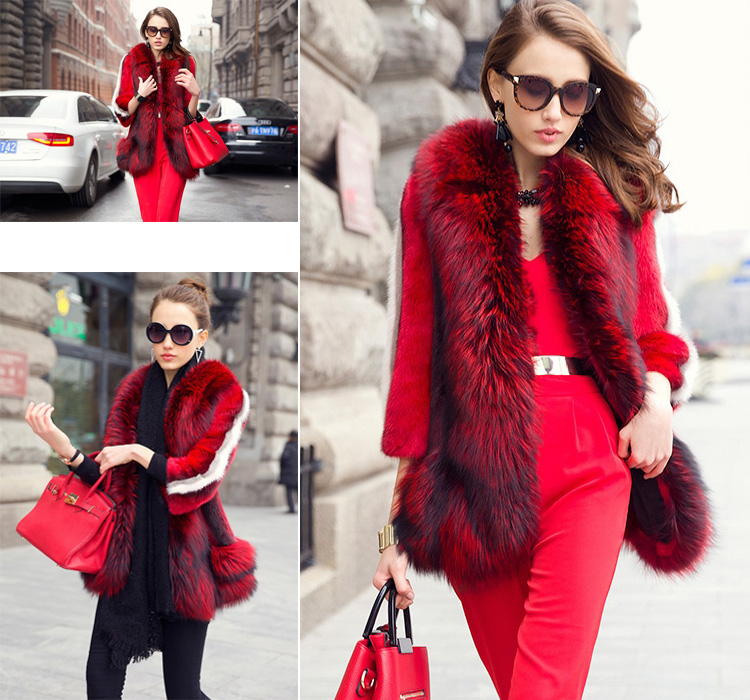 Mink Fur Coat With Fox Fur Trim 747 Details 2