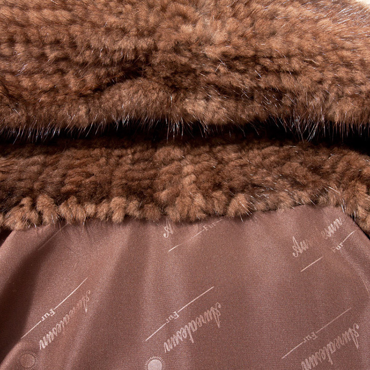 Knitted Mink Fur Jacket With Hood 749 Details 7