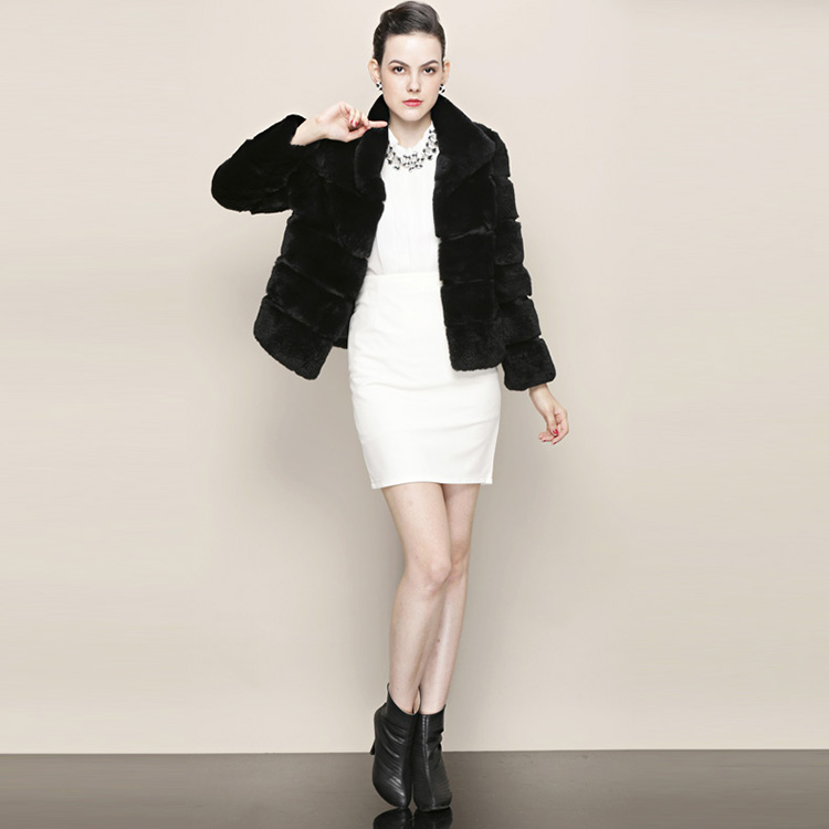 Cropped Rex Rabbit Fur Jacket 761 Details 1