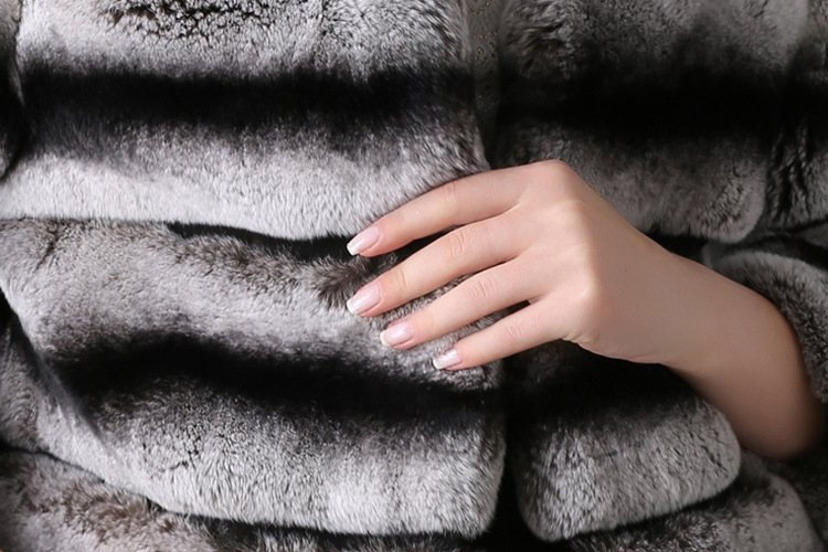 Cropped Rex Rabbit Fur Jacket 779 Details 2