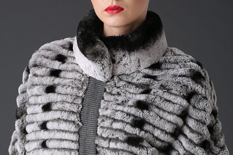 Rex Rabbit Fur Jacket with Cashmere Inner 786 Detail 1
