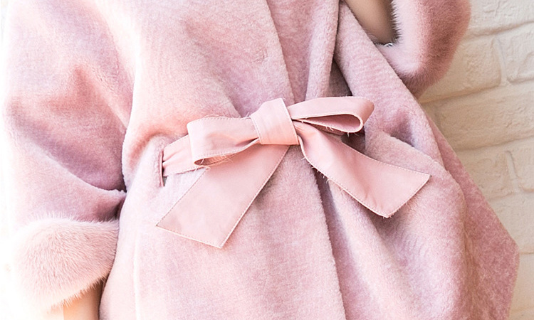 Shearling Lambwool Coat with Fox Fur Collar 735 Pink Details 5