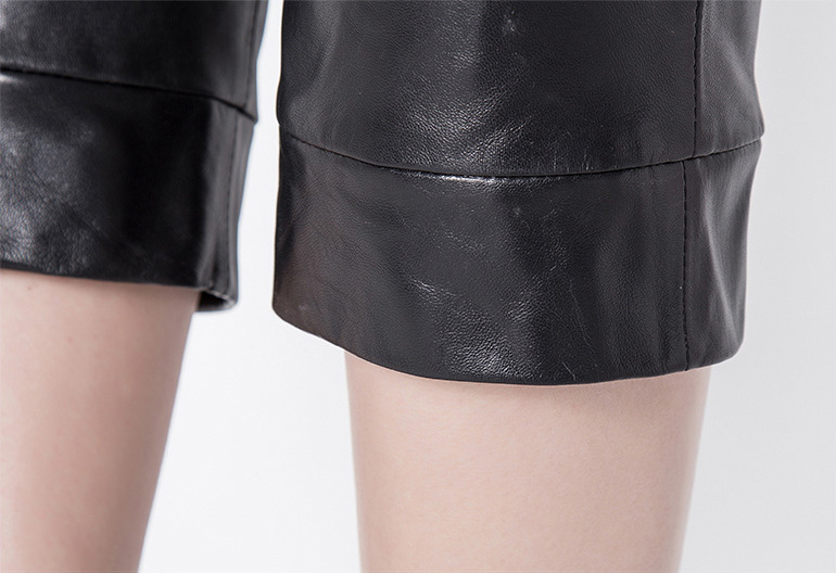 Cropped Women's Leather Pants 799 Details 5