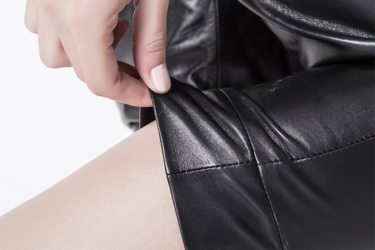 Cropped Women's Leather Pants 799 Details 6
