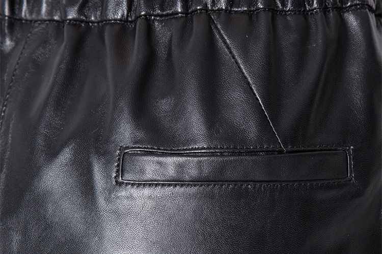 Cropped Women's Leather Pants 799 Details 7
