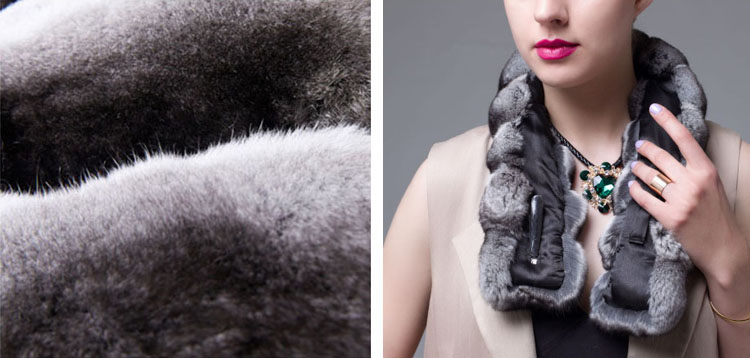 Chinchilla Fur Scarf 671