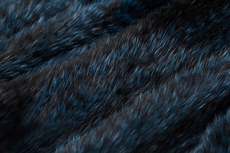 Long Mink Fur Knitted Shawl 842 Details 2