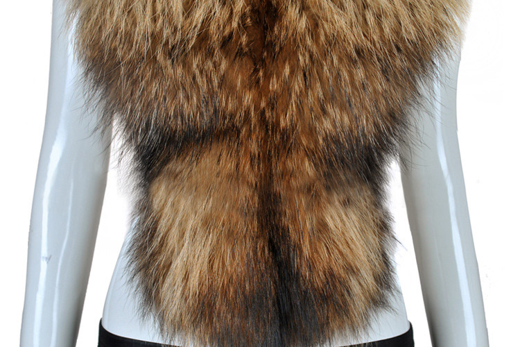 Raccoon Fur Shawl 838 Brown 1