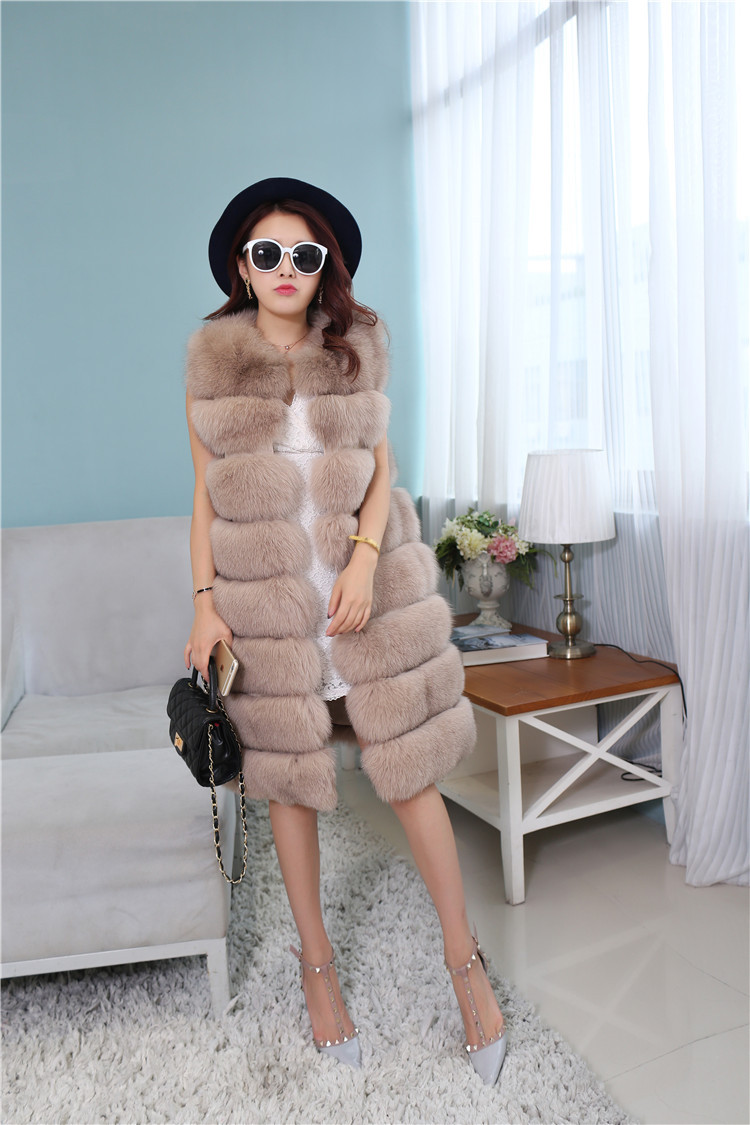 Fox Fur Long Vest 809 Details 1