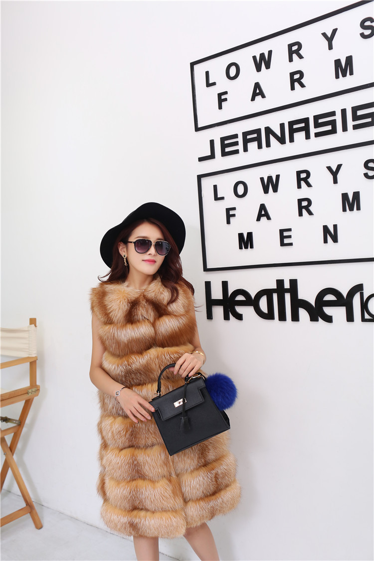 Red Fox Fur Vest 811 Details 1