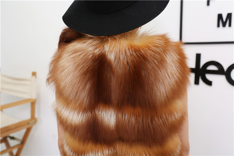 Red Fox Fur Vest 811 Details 5