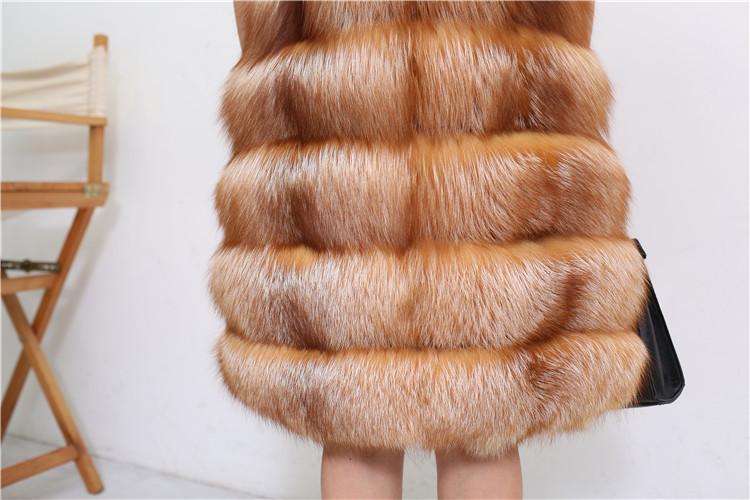 Red Fox Fur Vest 811 Details 7