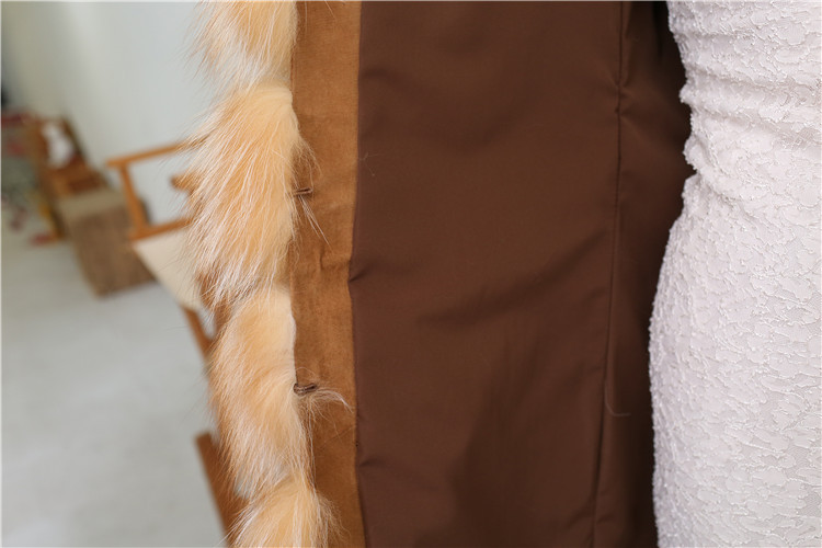 Red Fox Fur Vest 811 Details 8
