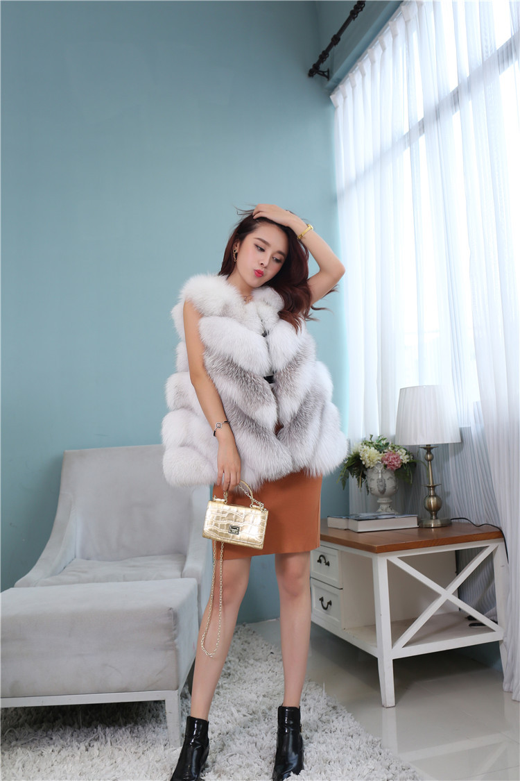Cross Fox Fur Vest 813 Details 1
