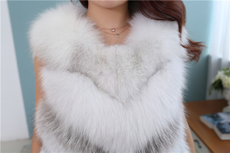 Cross Fox Fur Vest 813 Details 4