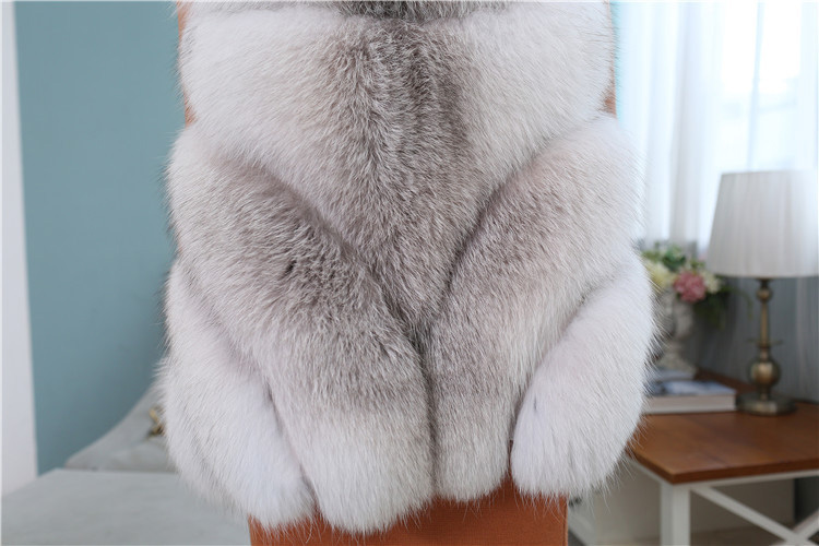 Cross Fox Fur Vest 813 Details 8