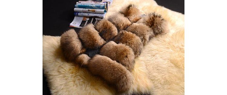 Raccoon Fur Vest 823 Details 1