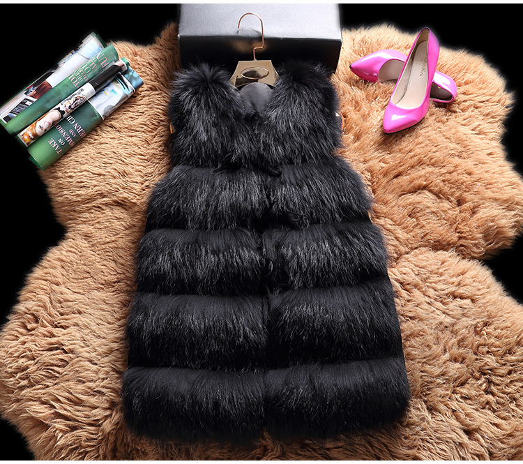 Raccoon Fur Vest 824 Details 2