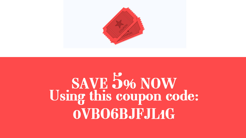 5% OFF Coupon for 2018